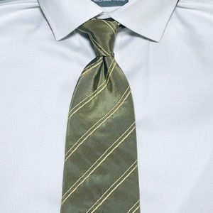 Hugo Boss green and khaki tie